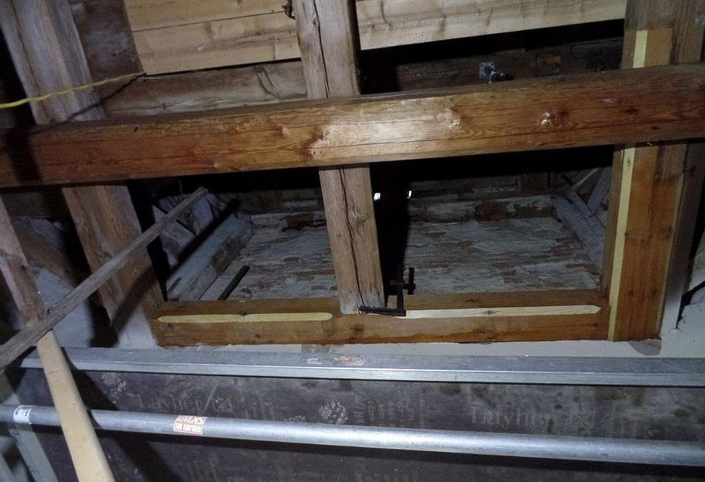 Trinitatiskirche Gablenz Sanierung Baufortschritt Innenarbeiten