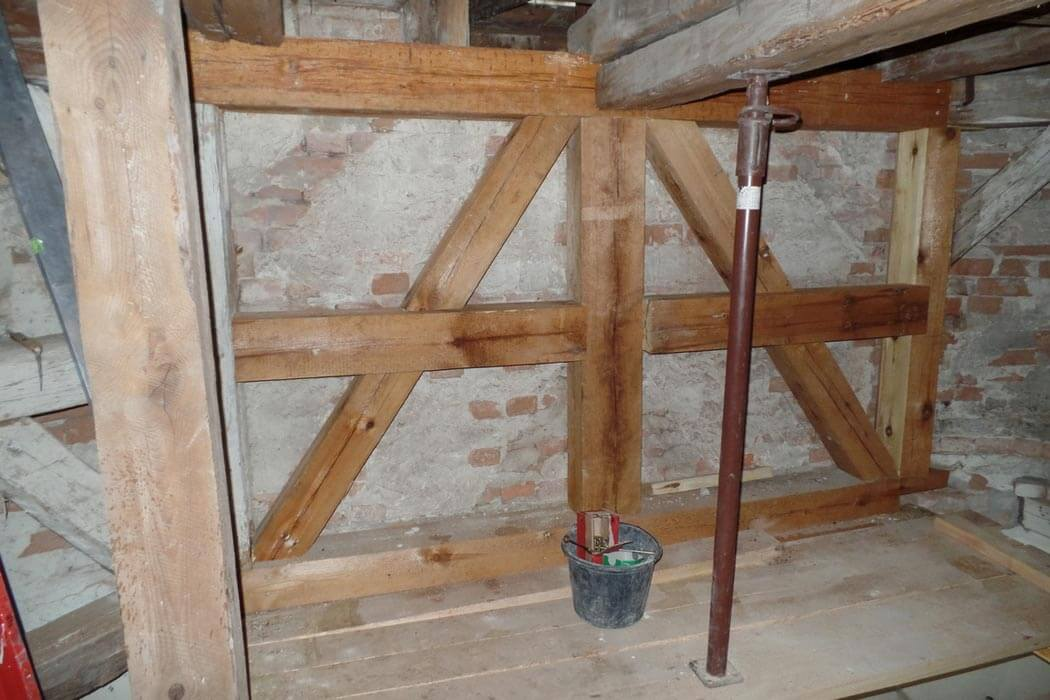 Trinitatiskirche Gablenz Sanierung Baufortschritt Segment nachher