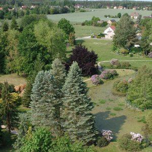 Trinitatiskirche Gablenz Sicht Park
