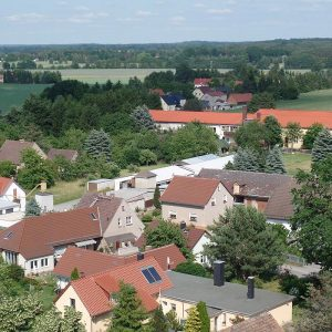 Trinitatiskirche Gablenz Sicht Richtung Bad Muskau