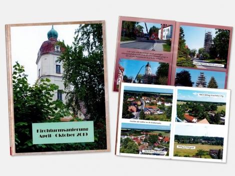 evangelische Kirchgemeinde Bad Muskau Gablenz Fotobuch Kirchturmsanierung 2019