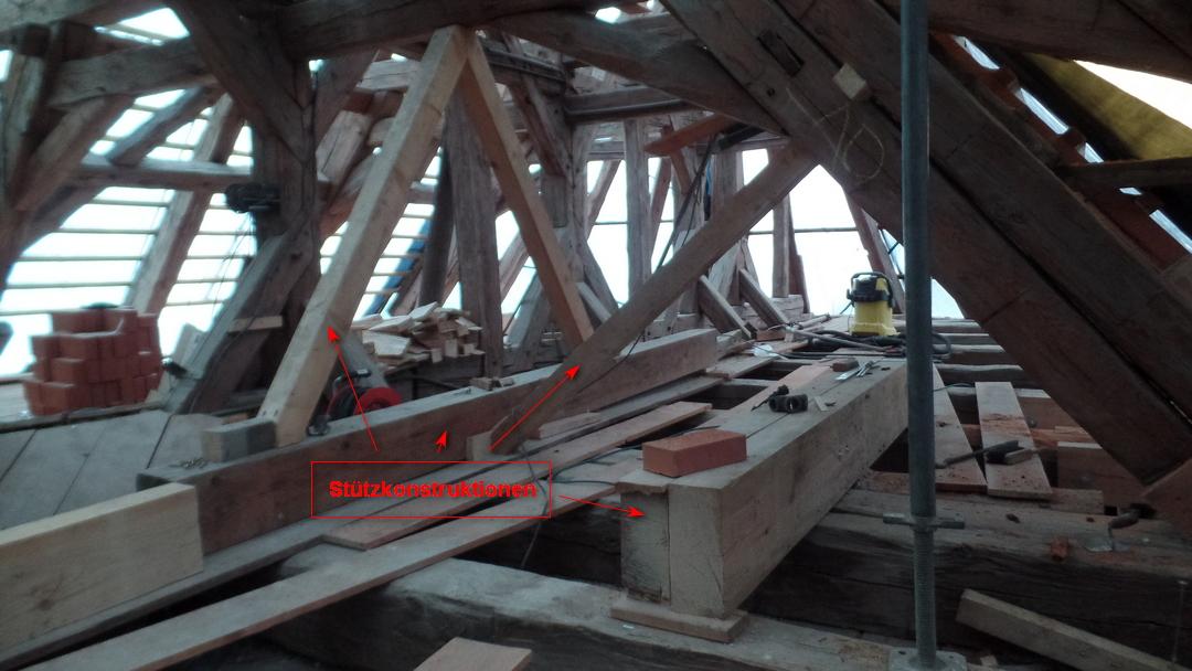 Einblicke in die Baustelle